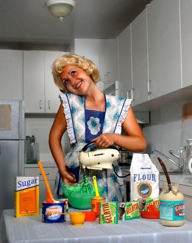 Happy house wife