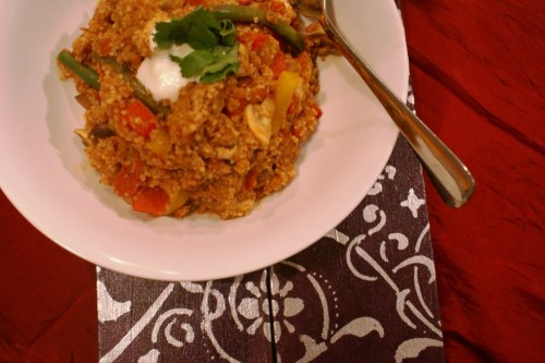 One pot moroccan chicken cous cous