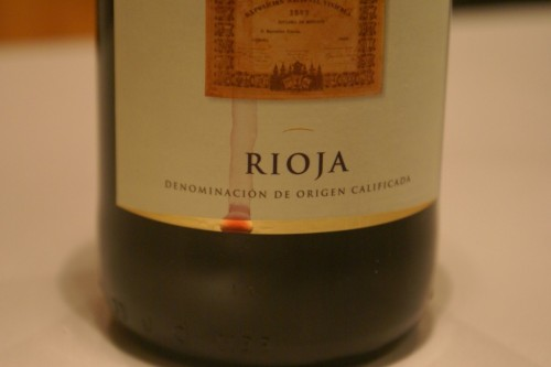 Bottle of Rioja