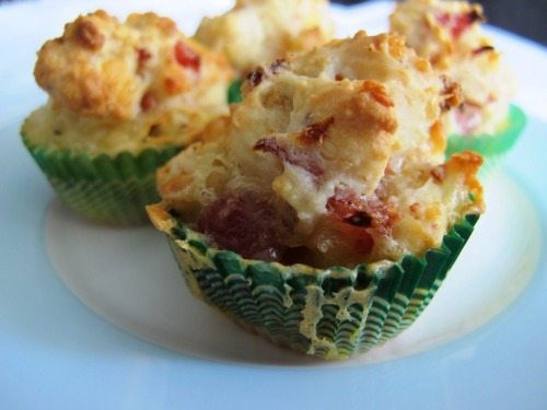 Ham and cheese mini muffins