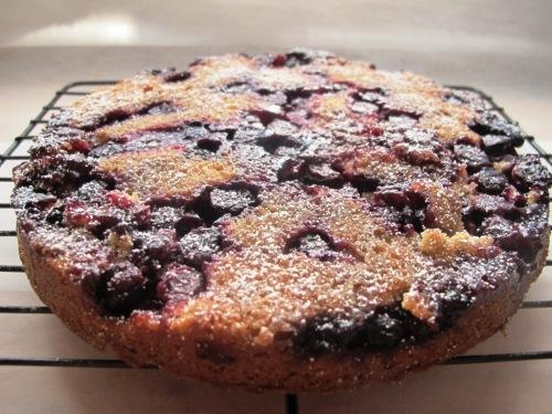 Blueberry upside down cake whole