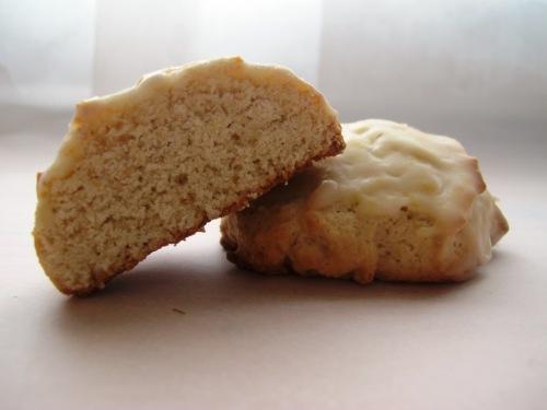Buttermilk cookies one cut in half