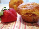 Strawberry cornmeal muffin
