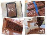 bake, cut, dip, lift chocolatelamingtons