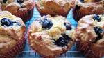 blueberry banana custard muffin
