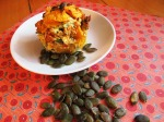 Pumpkin, spinach and semi-sundried muffins I