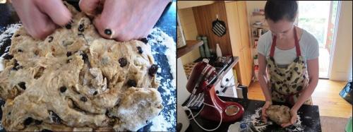 Me kneading dough.